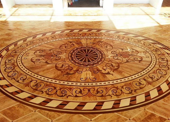 Hardwood flooring installation artistic hardwood