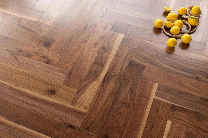 Hardwood flooring installation herringbone diagonal