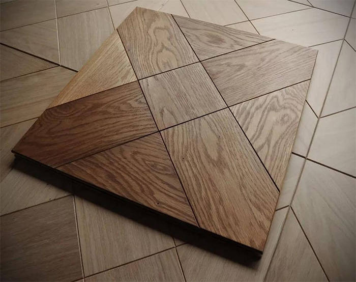 Hardwood flooring installation modular hardwood