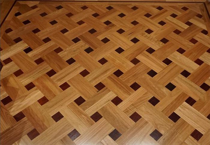 Hardwood flooring installation network laying example 1
