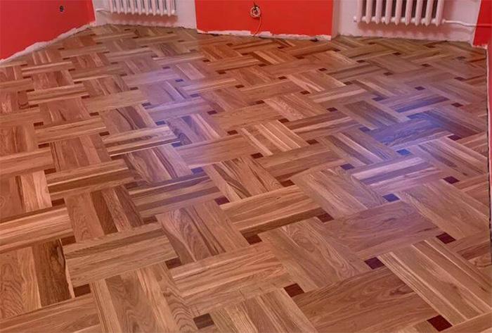 Hardwood flooring installation network laying example 2