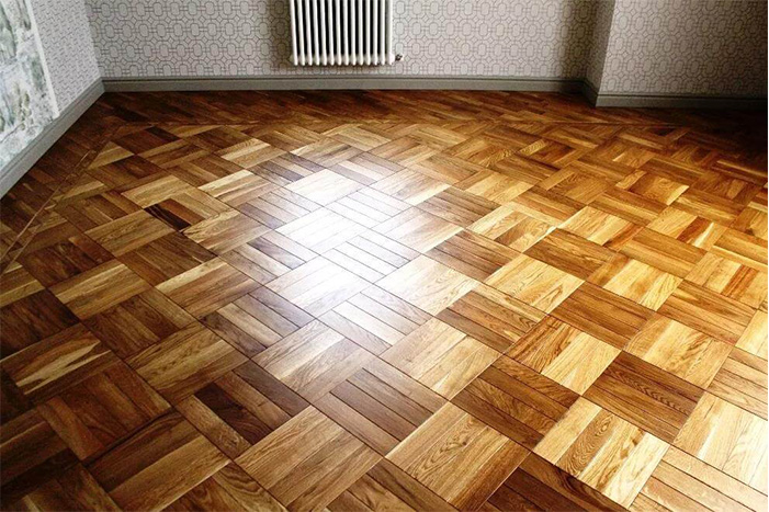 Hardwood flooring installation network laying example 4
