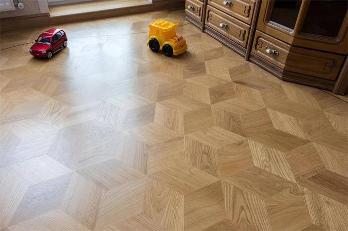 Hardwood flooring installation rhombuses 1
