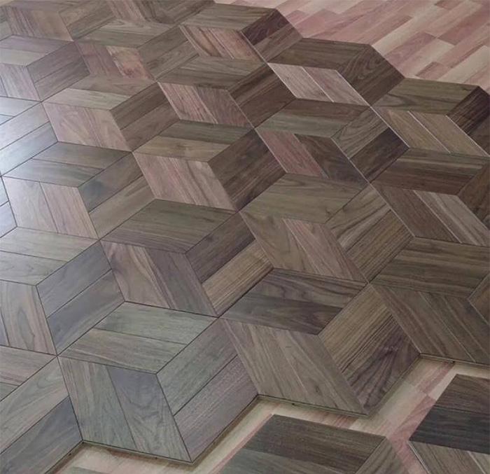 Hardwood flooring installation rhombuses 4