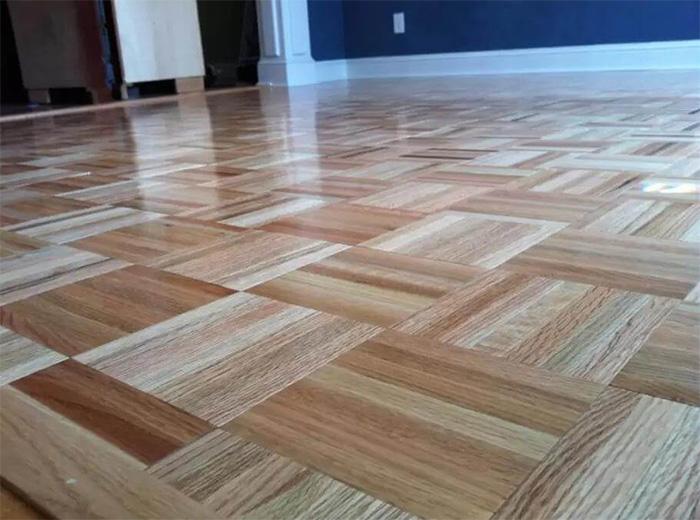 Hardwood flooring installation solid