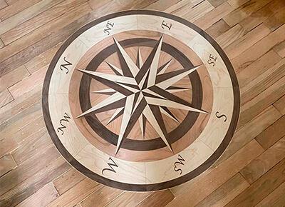 Flooring medallions installation